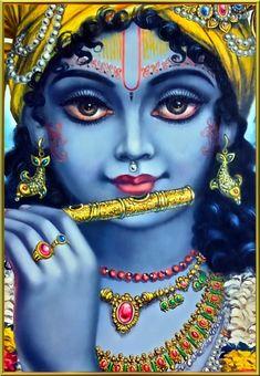 KRISHNA- Impressiona essa pintura indiana.