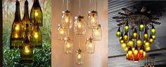 Resultado de imagen para lamparas de vidrio reciclado