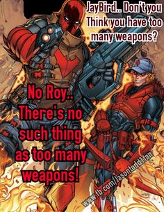 Jason todd Red hood Roy Harper Arsenal