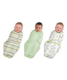 Summer Infant SwaddleMe 3-Pack Swaddling Wraps - Green - £24.99