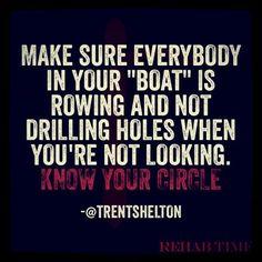 Know your circle #trentshelton