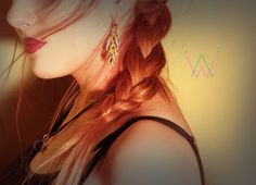 Handmade/earring/base metal/gold plated/24 by CrownedCharm on Etsy