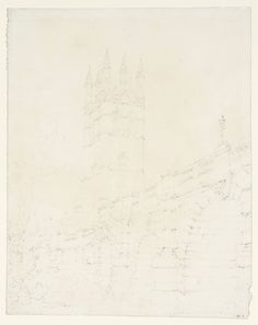 Joseph Mallord William Turner, 'Oxford: Magdalen Tower and Bridge' 1792-3