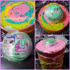 4th Birthday Cakes, 6th Birthday Parties, Birthday Ideas, Cupcakes, Cupcake Cakes, Macarons, Surprise Cake, Surprise Birthday, Lol Doll Cake