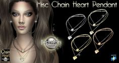 Jom Sims Creations: Divers chaines and necklace • Sims 4 Downloads