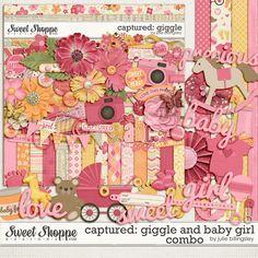 Sweet Shoppe Designs::Digital Scrap Kits::Captured: Giggle and Baby Girl Combo by Julie Billingsley