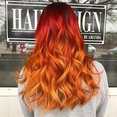 Orange Ombre Hair – 12 Revolutionary Ideas to Rock. Fierce and bold – that is how we can describe orange ombre hairstyles. Orange Ombre Hair, Dyed Hair Ombre, Best Ombre Hair, Blond Ombre, Dyed Hair Pastel, Brown Ombre Hair, Red Ombre, Ombre Hair Color, Hair Dye