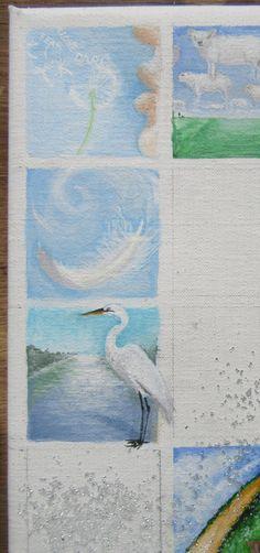 Dag 91 van project Winterlicht. 5 x 5 cm. Acryl op linnen.