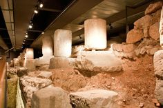 The Monumental Site of Plaça del Rei - Barcelona: The remains allow the visitor to take a close look at the everyday life of Barcelona's first Christian community. Barcelona Tourism, The Visitors, Romans, Old Things, Community, Christian, City, Museums, History