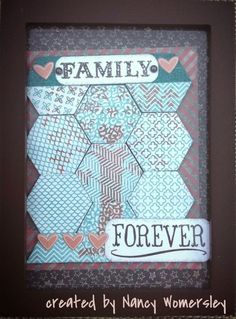 Papercrafting With Heart: Stamp of the Month September 2014 Bloghop #ChalkItUp #HexagonIrresistables-retired