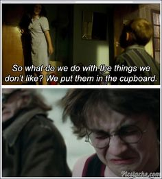 Poor Harry Potter, stuck in the cupboard with wooden dolls and hitler. #doctorwho #harrypotter