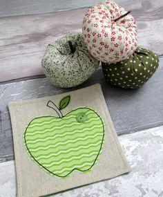 Handmade Apple Coaster - Thank You Gift for teachers
