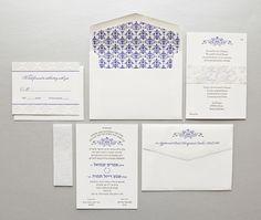 Letterpress wedding invitation www.cameleon-design.ca