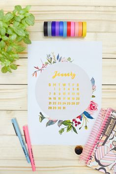 This time we have not two but 3 free modern floral 2018 calendar printables to choose from. Click the link to discover the rest.