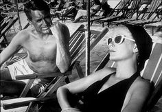 """""""To Catch A Thief,"""" Cary Grant and Grace Kelly. 1954 Paramount"""