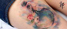 Watercolor tattoo piccolo principe