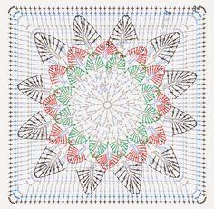 pontos e square de croche - Pesquisa Google