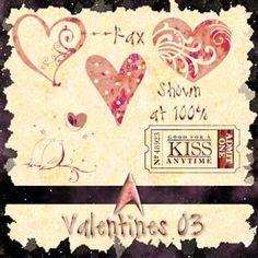 Photoshop brushes: Valentines 03. *