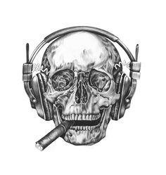 Skull by Ewa Żelasko , via Behance