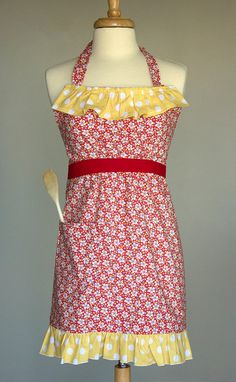 Special Edition Ruffled Apron by GingerlyGarnished on Etsy, $37.00