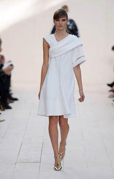 Chloe Look 6, white asymmetrical dress #minimalist #fashion #style