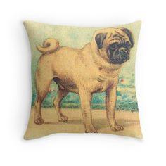 Handsome Pug Pillow
