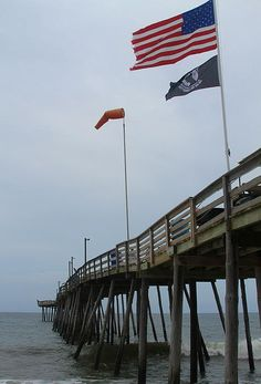 Avalon Pier And Flags