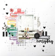 Audrey's Reflection: Just Clique Kits Pep Rally- You & Me Everyday with process video