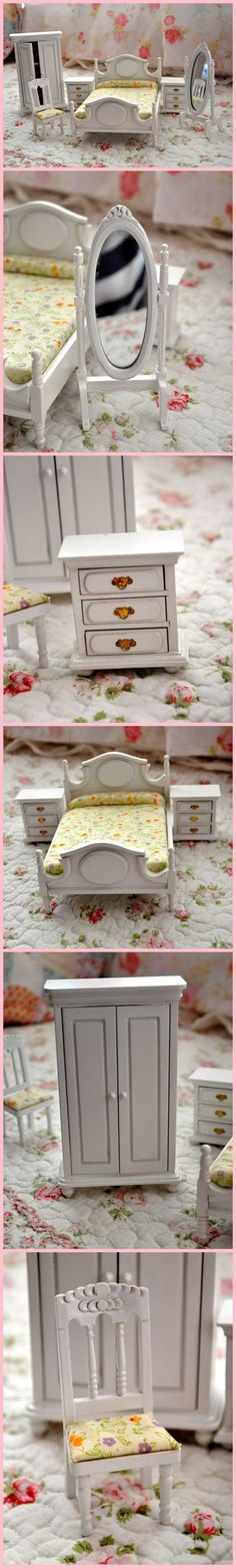 Casa de bonecas Dollhosue presente do dia de natal diy 6 peça set de madeira de móveis de bonecas em Móveis de brinquedo de Brinquedos & Lazer no AliExpress.com   Alibaba Group