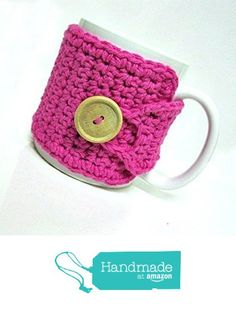 Coffee Cozy in Hot Pink - Coffee Accessories - Tea Cozy - Teachers Gift - Coffee Cozy from Montana Daisy Girl http://www.amazon.com/dp/B016WRQLR0/ref=hnd_sw_r_pi_dp_iYYHwb1F8FGJJ #handmadeatamazon