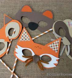 ❤ Az erdő állatai - farsangi maszkok (nyomtatható mintaívvel) ❤Mindy -  kreatív ötletek és dekorációk minden napra