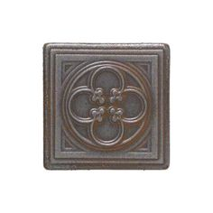 Daltile Castle Metals 2 in. x 2 in. Wrought Iron Metal Clover Insert Accent Wall Tile-CM0222DOTA1P - The Home Depot