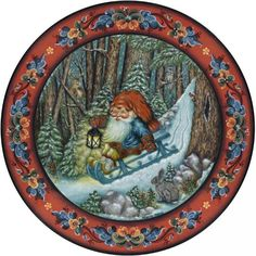 .Norwegian Christmas Plates by Suzanne Toftey.
