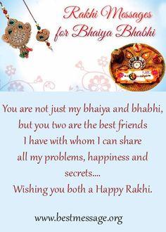 Raksha Bandhan Messages, Rakhi Wishes for Bhaiya/ Bhabhi