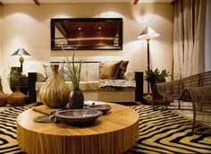Decorate your living room into an African style