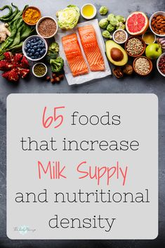 65 Top Lactogenic Foods to Increase Milk Supply Fast Understand what foods you can focus on eating while breastfeeding to maximize milk supply and nutritional density. This post contains a list of breastfeeding superfoods plus tips about low milk supply. Low Milk Supply, Increase Milk Supply, Milk Production Increase, 5 Weeks Pregnant, Pregnant Tips, Breastfeeding Foods, Good Food For Breastfeeding, Breastfeeding Support, Baby Supplies