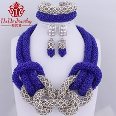 2017 Royal Blue Grey Owl Animal Jewelry Set Fashion Necklace Set Dubai Women Jewelry African Nigerian Wedding Beads Hot Sale * AliExpress Affiliate's buyable pin. Item can be found  on www.aliexpress.com by clicking the image #OpulenceJewelry