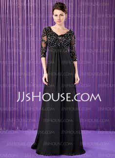Empire V-neck Sweep Train  Mother of the Bride or Groom Dress (008018687) Available in other colors.    From JJ's House, Bridal & bridal accessories.  www.jjshouse.com   We ship to Japan.   Please mention that you found them thru Jevel Wedding Planning's Pinterest Account.  Keywords: #motherofbridedresses #motherofgroomdresses #jevelweddingplanning Follow Us: www.jevelweddingplanning.com  www.facebook.com/jevelweddingplanning/