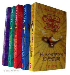 P B Kerr Children of The Lamp Series 5 books : The Akhnaten Adventure / The Blue Dhinn of Babylon / The Cobra King of Kathmandu / The Day of the Djinn Warriors / The Eye of the Forests Books 1 - 5 null http://www.amazon.co.uk/dp/B00DO317PM/ref=cm_sw_r_pi_dp_kyqOwb0EJZYN6