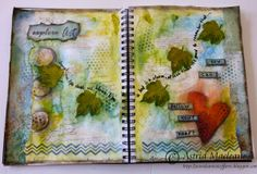 The Artistic Stamper Creative Team Blog: Explore Art Journal page - distress paints