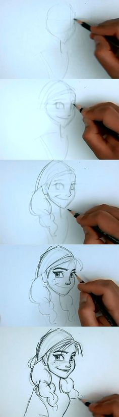 How to draw Anna from Disney Frozen. Learn to draw basic drawing cartoon. Princess Anna of Arendelle is the main protagonist in the 2013…