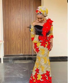 2020 African Clothing For Beautiful Ladies - Dabonke : Nigeria Latest Gist and Fashion 2019 African Beauty, African Women, African Fashion, Beautiful Ankara Styles, Aso Ebi Styles, Next Fashion, Mix Style, African Print Dresses, African Attire