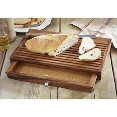 Tabla para cortar el pan, con recoge migas. ¡Me encanta!
