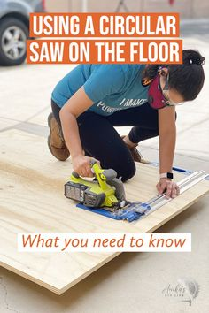 How to use a circular saw without a table or Without a workbench. How to do woodworking on the floor. These are great Beginner woodworking tips. #anikasdiylife #woodworking Beginner Woodworking Projects, Woodworking Tips, Circular Saw, Wood Working For Beginners, Being Used, A Table, Easy Diy, Flooring, Wood Flooring