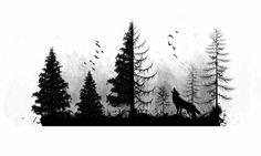 Resultado de imagen de forest tattoo drawing