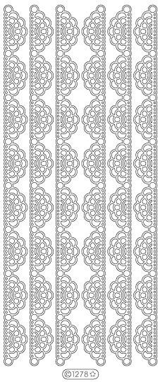 Starform Peel Off Stickers  1278B  Lace Fan 2 Border  by PNWCrafts, $2.10