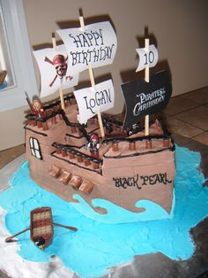 Admirable 16 Best Pirates Of The Caribbean Cakes Images Pirates Of The Funny Birthday Cards Online Aeocydamsfinfo