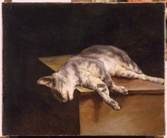 Theodore Gericault - The Dead Cat, 1821. Oil on canvas. Held by Musee du Louvre, Paris, France.