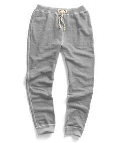 Todd Snyder + Champion Warm Up Sweatpants in Grey Heather