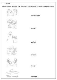 landforms worksheet 2 homeschooling earth science. Black Bedroom Furniture Sets. Home Design Ideas